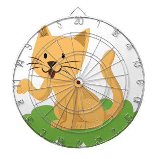 beautiful cat meowing and waving dartboard