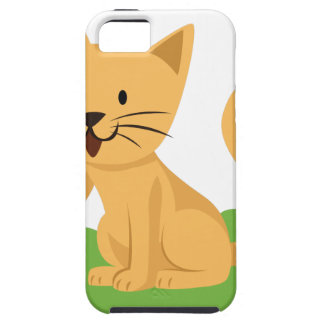 beautiful cat meowing and waving iPhone 5 covers