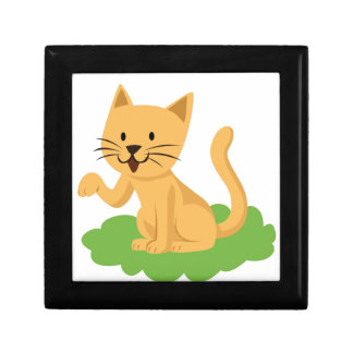 beautiful cat meowing and waving jewelry boxes