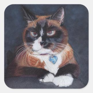Beautiful Cat Square Sticker