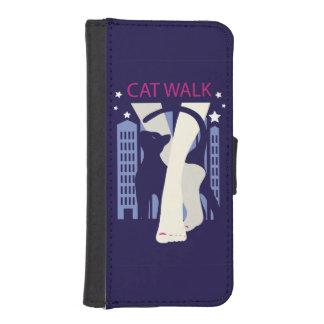 Beautiful cat walk. Art deco stylish illustration iPhone SE/5/5s Wallet Case