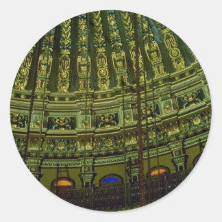 Beautiful Ceiling details in the interior of mosqu Round Sticker