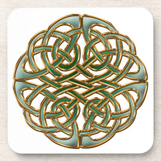 Beautiful celtic knot drink coasters