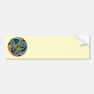 Beautiful Celtic Mandala with Colorful Swirls Bumper Sticker