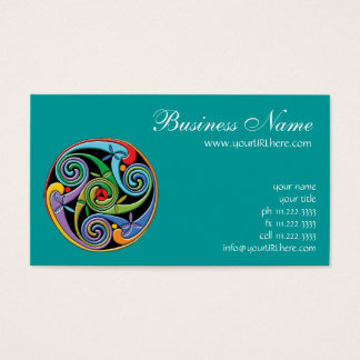 Beautiful Celtic Mandala with Colorful Swirls Business Card