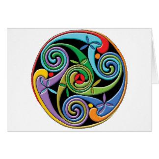 Beautiful Celtic Mandala with Colorful Swirls Card