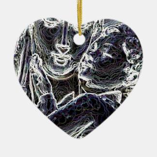 Beautiful Ceramic Heart Ornament
