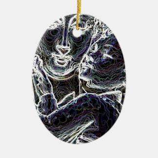Beautiful Ceramic Oval Ornament
