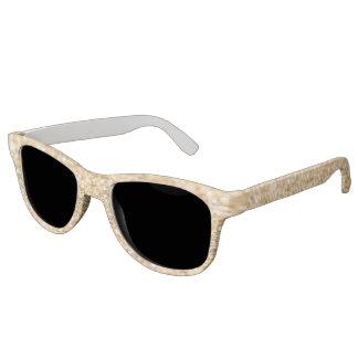 Beautiful champagne gold glitter sparkles sunglasses