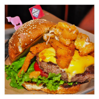 Beautiful Cheeseburger Poster