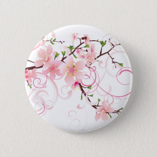 Beautiful Cherry Blossoms 2 Inch Round Button