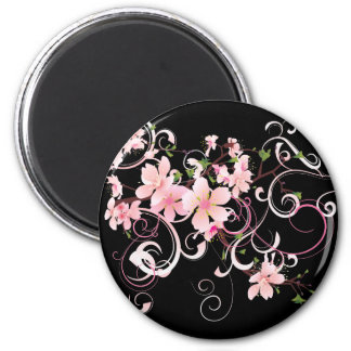 Beautiful Cherry Blossoms 2 Inch Round Magnet