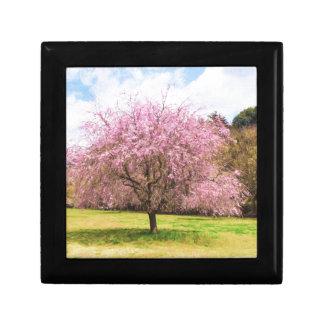 Beautiful cherry blossoms gift box
