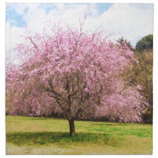 Beautiful cherry blossoms napkin