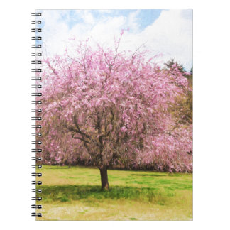 Beautiful cherry blossoms notebooks
