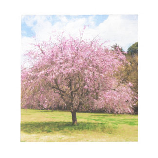 Beautiful cherry blossoms notepad