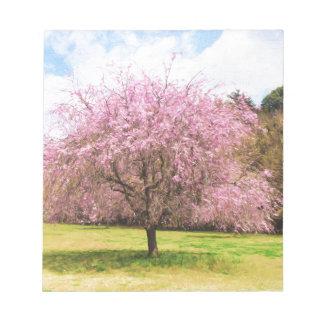 Beautiful cherry blossoms notepads