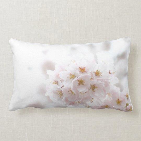 beautiful cherry flower lumbar pillow