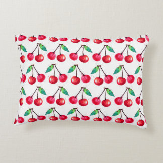 Beautiful cherry front/black check back pillow