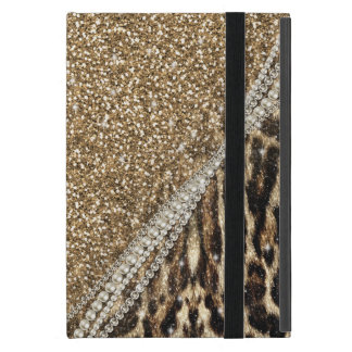 Beautiful chic girly leopard animal faux fur print iPad mini case