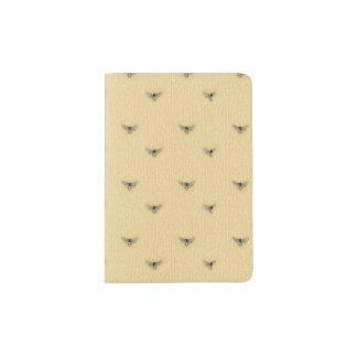 Beautiful Chic Hand-Drawn Bee Pattern Passport Holder