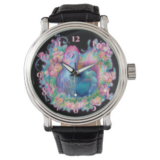 Beautiful Chicken and Flowers Watch