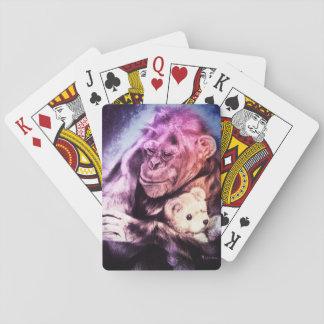 """Beautiful Chimpanzee Playing Cards """"Cuddle"""""""
