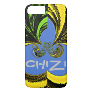 Beautiful Chizi Golden Blue latest abstract design iPhone 7 Plus Case