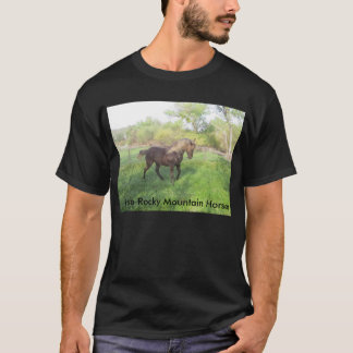 Beautiful chocolate Rocky Mountain Horse mare. T-Shirt
