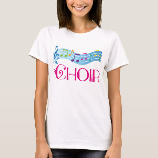 Beautiful Choir Music Staff Tee Shirt