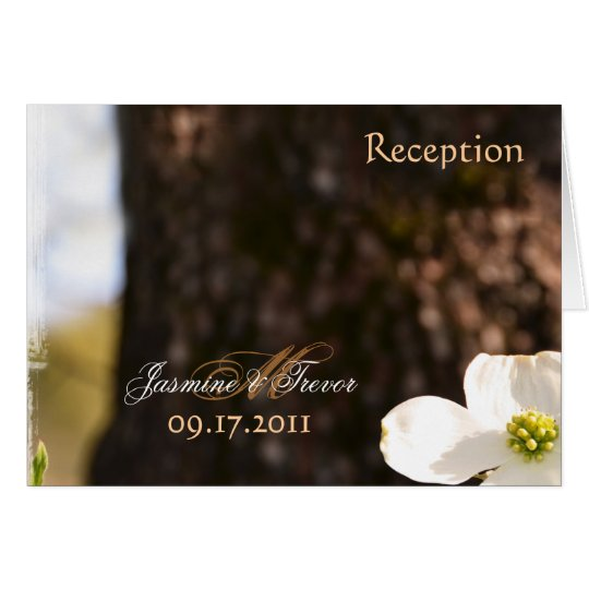 Beautiful Christian Dogwood Reception Card