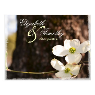 Beautiful Christian Dogwood RSVP Postcard v2