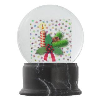 Beautiful Christmas Candle Snow Globe