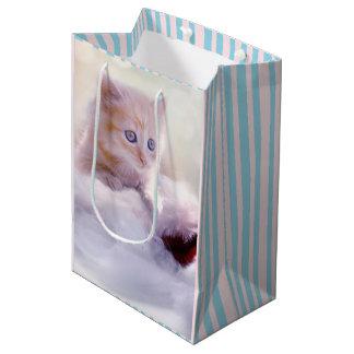 Beautiful Christmas Kitten Gift Bag