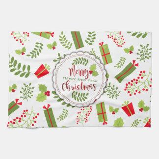 Beautiful Christmas Script Gifts Kitchen Towel