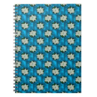 Beautiful Christmas White Poinsettia & Greenery Notebook