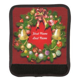 Beautiful Christmas Wreath Luggage Handle Wrap