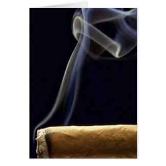Beautiful Cigar with smoke Card