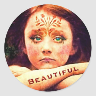 beautiful~ classic round sticker
