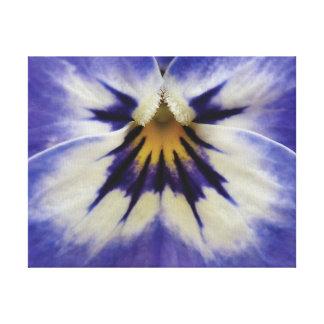 Beautiful close-up photo purple flower canvas print