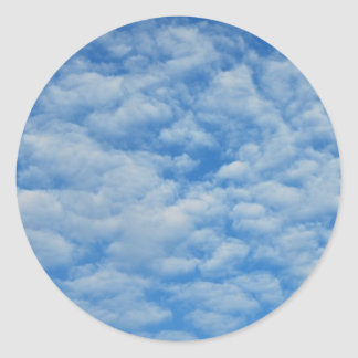 Beautiful Clouds Classic Round Sticker
