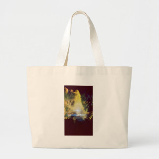 Beautiful Clouds On Planet  Large Tote Bag