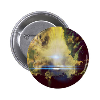 Beautiful Clouds On Planet Zumba 2 Inch Round Button