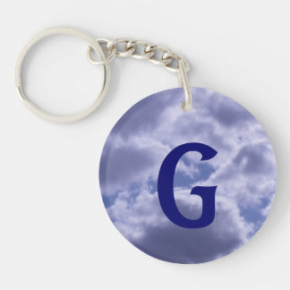 Beautiful Cloudy Day Double-Sided Round Acrylic Keychain
