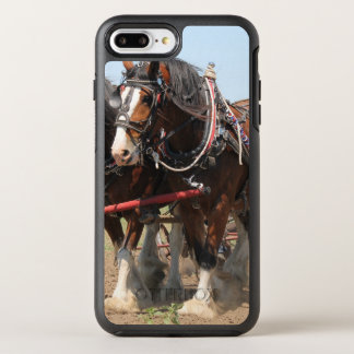 Beautiful clydesdale horses ploughing OtterBox symmetry iPhone 8 plus/7 plus case