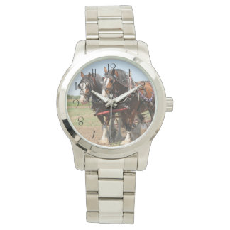 Beautiful clydesdale horses ploughing watch