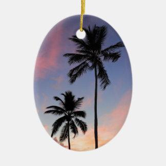 Beautiful Coast Sunrise Ceramic Ornament