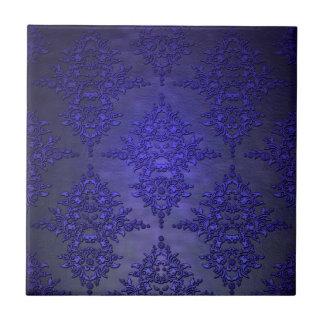 Beautiful Cobalt Blue Damask Ceramic Tiles