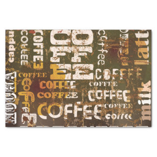 Beautiful Coffee Espresso Design Tissue Paper