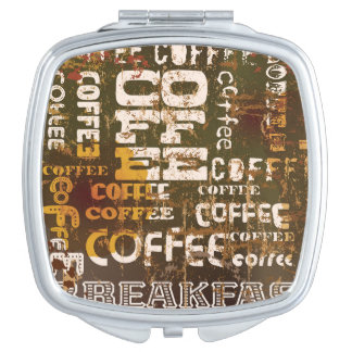 Beautiful Coffee Espresso Design Travel Mirror